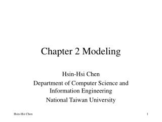 Chapter 2 Modeling