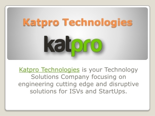 Katpro Technologies - Cloud Managed Services