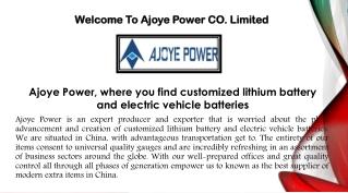 Power Batteries - Customized Battery