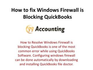 When Windows Firewall is Blocking Quickbooks 2016