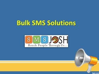 Bulk SMS Solutions in Hyderabad, Bulk SMS Hyderabad - SMSjosh