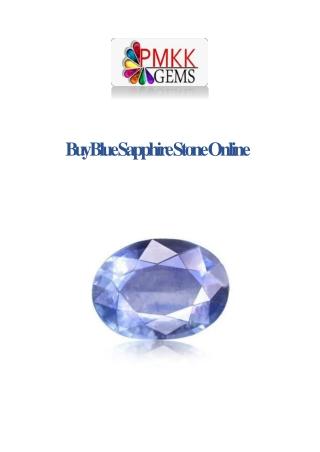 Buy Blue Sapphire Stone on Rashi Ratan Jaipur