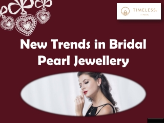 New Trends in Bridal Pearl Jewellery