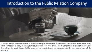 Introduction to the Public Relation Company