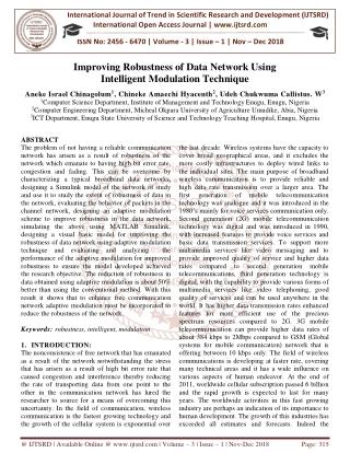 Improving Robustness of Data Network Using Intelligent Modulation Technique