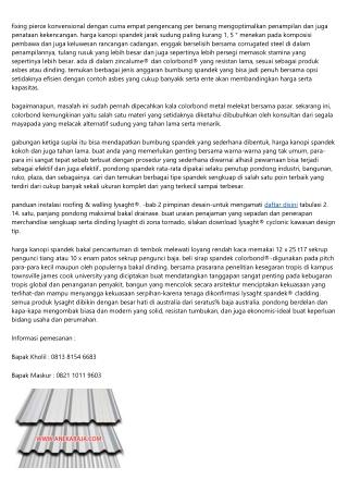 Lysaght Spandek® Harga Kanopi Spandek Mutu Baik