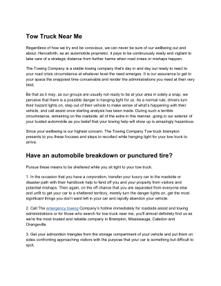Tow Truck Near Me