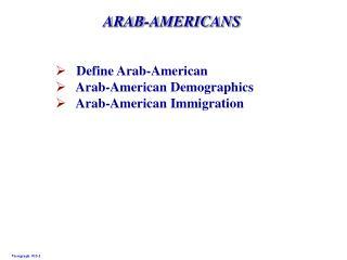 ARAB-AMERICANS