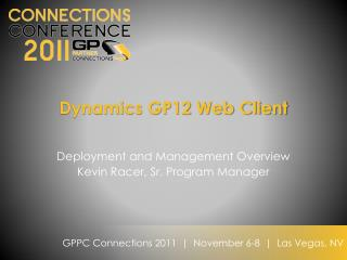 Dynamics GP12 Web Client