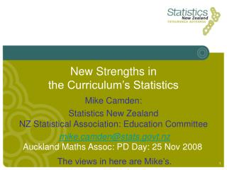 New Strengths in  the Curriculum s Statistics