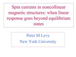 Spin currents in noncollinear magnetic structures: when linear response goes beyond equilibrium states