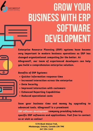 Grow your Business with ERP Software Development