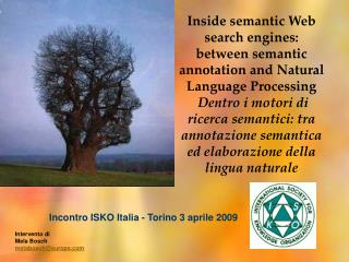 Inside semantic Web search engines: between semantic annotation and Natural Language Processing  Dentro i motori di rice