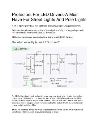 Best Energy Efficient LED Street Lights