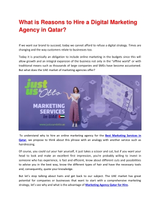 Hire Best Qatar Marketing Services
