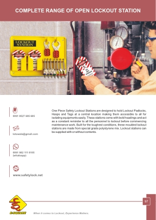 Open Lockout Stations by E-Square - Lockout Tagout Manufacturer