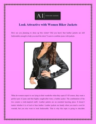 Look Attractive with Women Biker Jackets