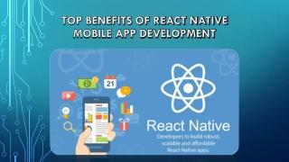 Top Benefits of React Native Mobile App Development