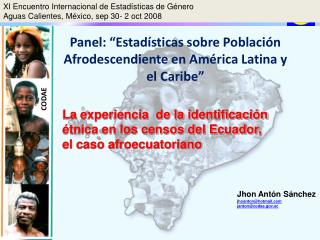 Panel:  Estad sticas sobre Poblaci n Afrodescendiente en Am rica Latina y el Caribe