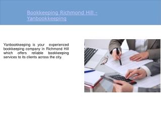 Bookkeeping Richmond Hill  Yanbookkeeping