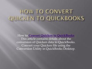 Quicken Conversion Tool ☎ 1800-993-4190 Download
