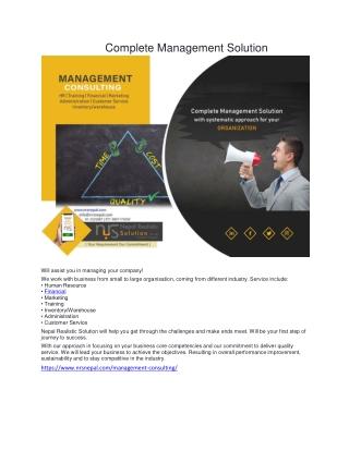 Complete Management Solution