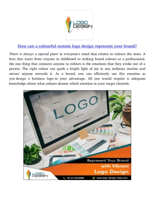 How can a colourful custom logo design represent your brand