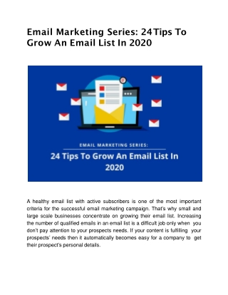 24 Tips To Grow An Email List In 2020