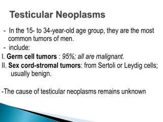 Clinical Cases of the Testis