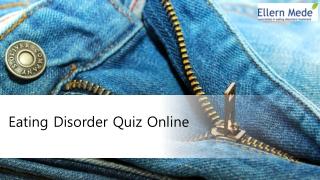 Eating disorder quiz online - ellern mede