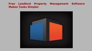 Free Landlord Property Management Software Makes Tasks Simpler