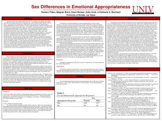 Sex Differences in Emotional Appropriateness