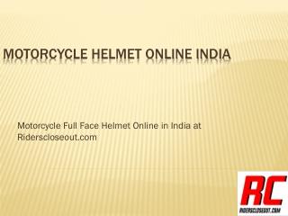 Motorcycle Helmet online India