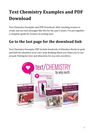 Text Chemistry Examples and PDF Download