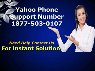 Yahoo Phone Support Number 1877-503-0107