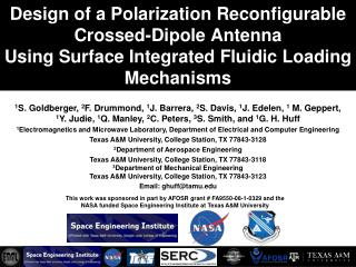 Design of a Polarization Reconfigurable Crossed-Dipole Antenna Using Surface Integrated Fluidic Loading Mechanisms
