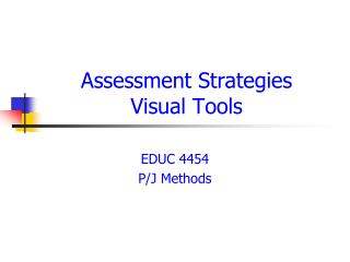Assessment Strategies Visual Tools