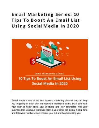 10 Tips To Boost An Email List Using Social Media In 2020