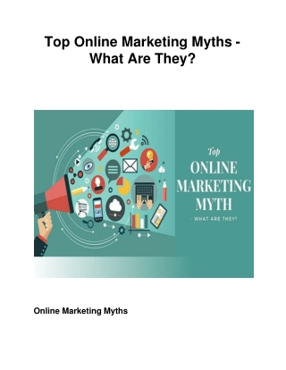 Top Online Marketing Myths - What Are They?