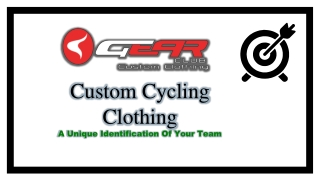 Custom Cycling Clothing: Attractive, Branding & Comfortable