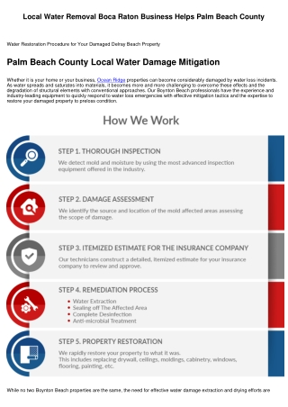 Local Flood Water Removal Business Helps Palm Beach County