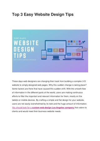 Top 3 Easy Website Design Tips