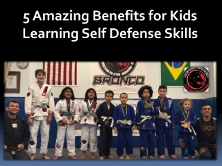 5 Amazing Benefits for Kids Learning Self Defense Skills