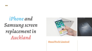 iPhone and Samsung screen replacement in Auckland