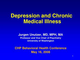 Depression and Chronic  Medical Illness