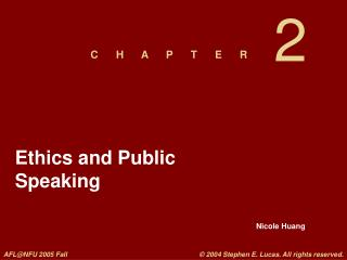 Ethics and Public Speaking