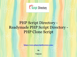 Readymade PHP Script Directory