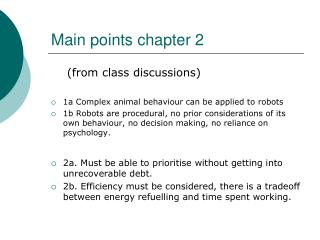 Main points chapter 2