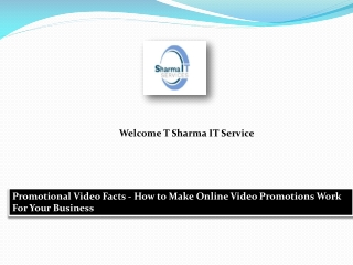 Promotional Video Facts - How to Make Online Video Promotions Work For Your Business