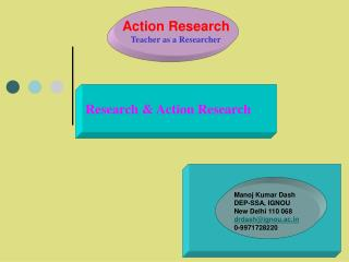 Action Research Teacher as a Researcher